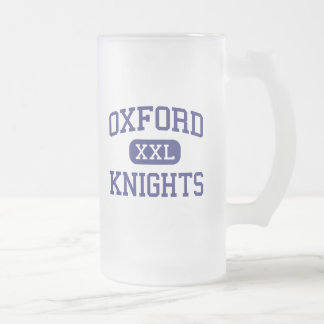 Oxford Knights Middle Overland Park Kansas Frosted Glass Beer Mug