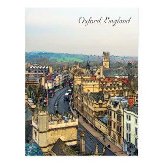 Oxford magnífica, Inglaterra, calle principal, el Postales