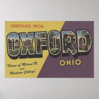 Oxford, Ohio - Miami U y universidad occidental Póster