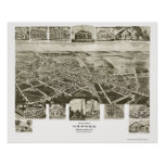Oxford, PA Panoramic Map - 1907 Poster
