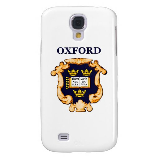 Oxford Plaque Blue Gold The MUSEUM Zazzle Gifts Samsung Galaxy S4 Cover