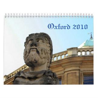 Oxford, Reino Unido 2010 Calendario