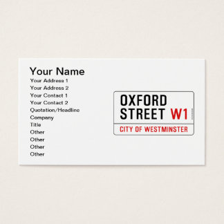 Oxford Street Business Card