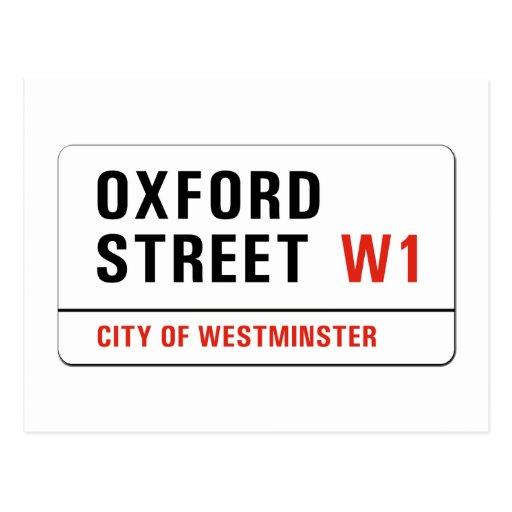 Oxford Street, London Street Sign Postcards
