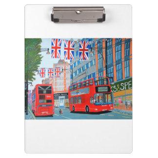 Oxford Street- Queen Dimond Jubilee Clipboard