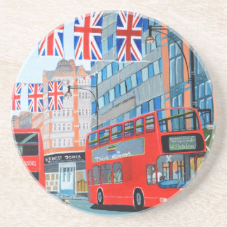 Oxford Street- Queen's Diamond  Jubilee Drink Coaster