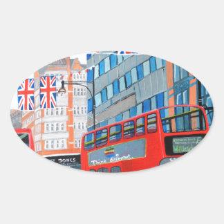 Oxford Street- Queen's Diamond  Jubilee Oval Sticker