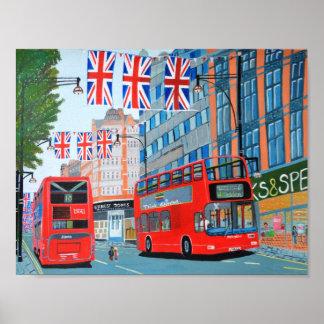 Oxford Street Queen's Diamond Jubilee Poster