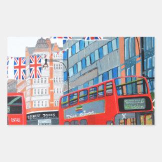 Oxford Street- Queen's Diamond  Jubilee Rectangular Sticker