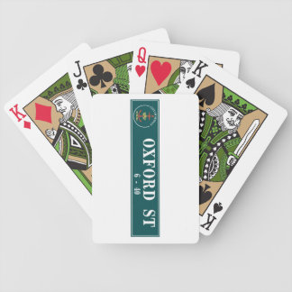 Oxford Street, Sidney, Australian Street Sign Bicycle Playing Cards