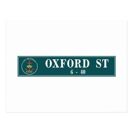 Oxford Street, Sidney, Australian Street Sign Post Cards