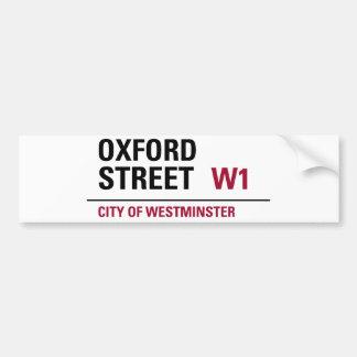 Oxford Street Sign Bumper Sticker