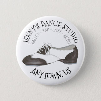 Oxford Tap Shoe Custom Dance Studio Tapper Pinback Button