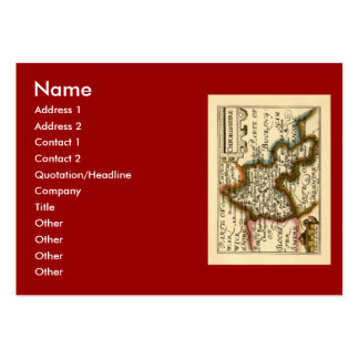 Oxfordshire County Map, England Large Business Cards (Pack Of 100)