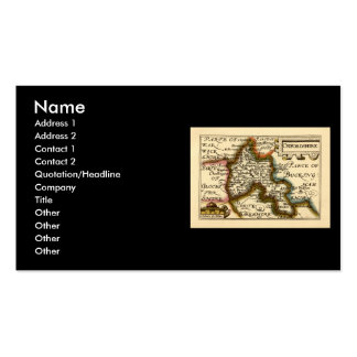 Oxfordshire County Map, England Double-Sided Standard Business Cards (Pack Of 100)
