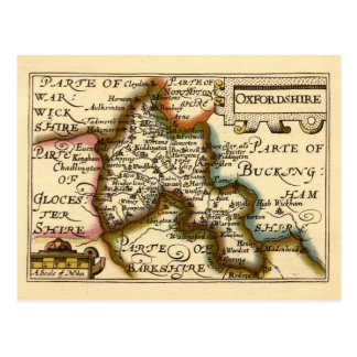 Oxfordshire County Map England Postcard
