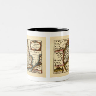 Oxfordshire County Map, England Two-Tone Coffee Mug