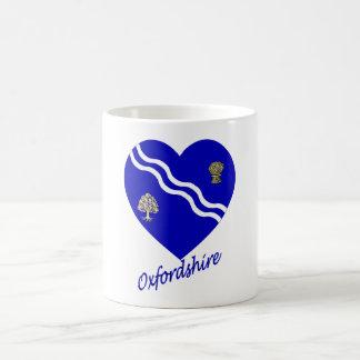 Oxfordshire Flag Heart with Name Classic White Coffee Mug