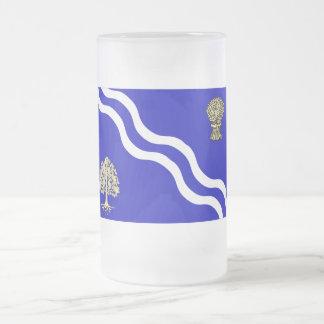 Oxfordshire Flag 16 Oz Frosted Glass Beer Mug