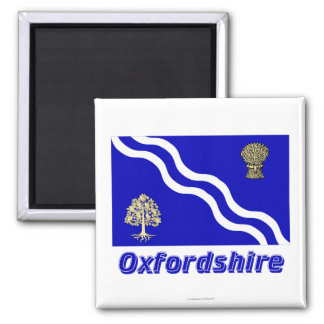 Oxfordshire Flag with Name Magnet