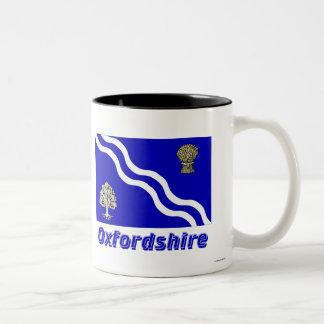 Oxfordshire Flag with Name Two-Tone Coffee Mug