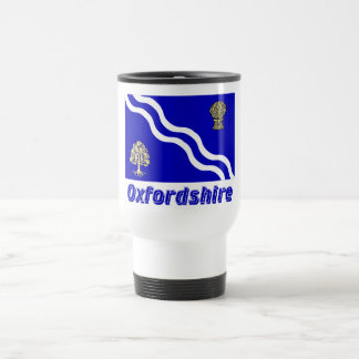 Oxfordshire Flag with Name 15 Oz Stainless Steel Travel Mug