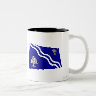 Oxfordshire Waving Flag Two-Tone Coffee Mug