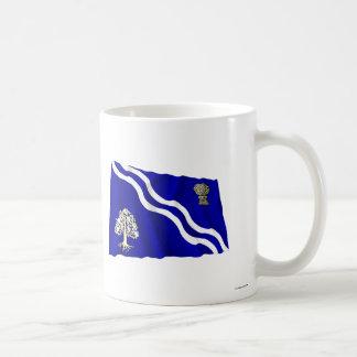 Oxfordshire Waving Flag Classic White Coffee Mug