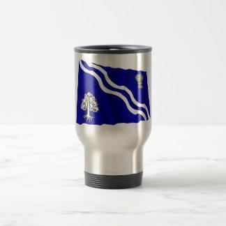 Oxfordshire Waving Flag 15 Oz Stainless Steel Travel Mug