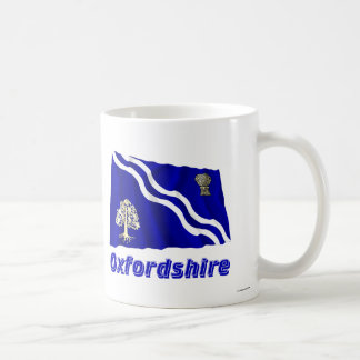 Oxfordshire Waving Flag with Name Classic White Coffee Mug