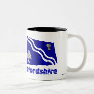 Oxfordshire Waving Flag with Name Two-Tone Coffee Mug