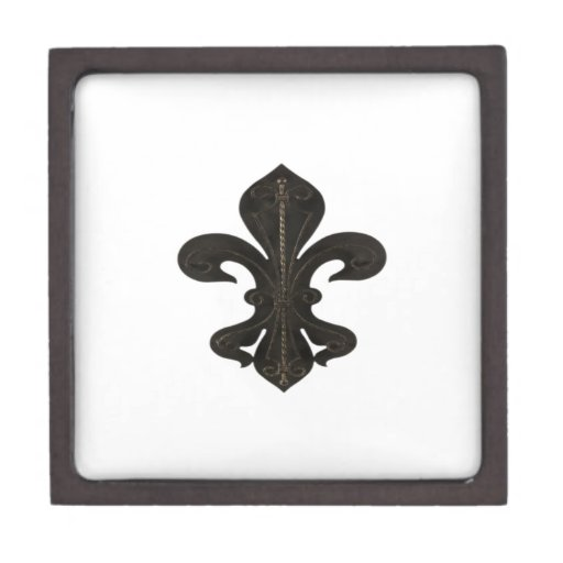 Oxidado rústico de Flor New Orleans de la flor de  Caja De Joyas De Calidad