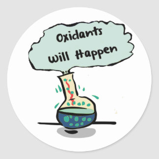 Oxidants Happen - Chemistry Humor Classic Round Sticker