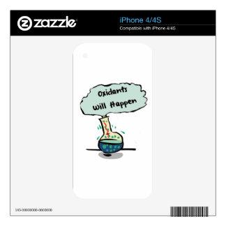Oxidants Happen - Chemistry Humor Decals For The iPhone 4