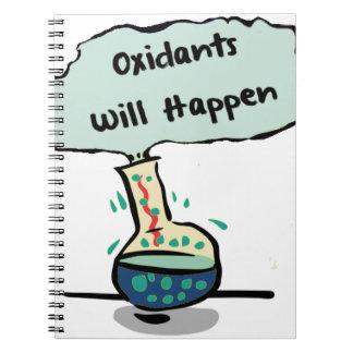Oxidants Happen - Chemistry Humor Spiral Note Books
