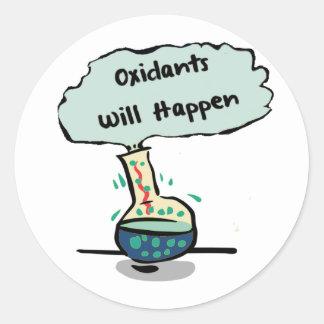 Oxidants Happen - Chemistry Humor Classic Round Sticker