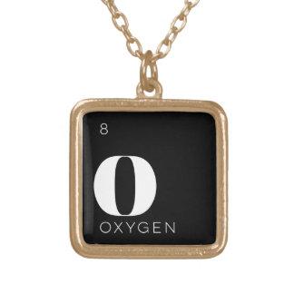 Oxígeno de //del collar de los elementos de tabla