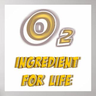 Oxígeno para el poster de la vida