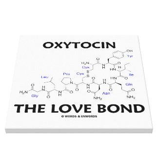 Oxitocina el enlace del amor (química) impresiones en lona estiradas