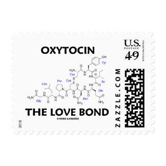 Oxitocina el enlace del amor (química) sello postal