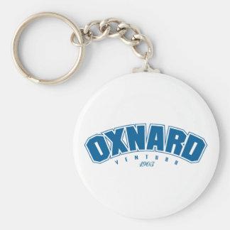 Oxnard 1903 basic round button keychain