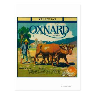 Oxnard LabelOxnard anaranjado, CA Postal