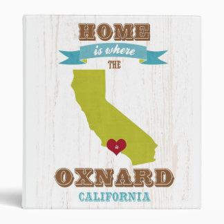 Oxnard mapa de California - casero es donde