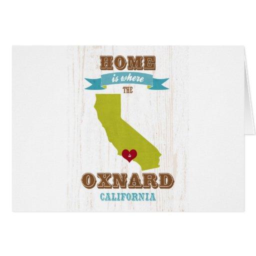 Oxnard, mapa de California - casero es donde Tarjeton