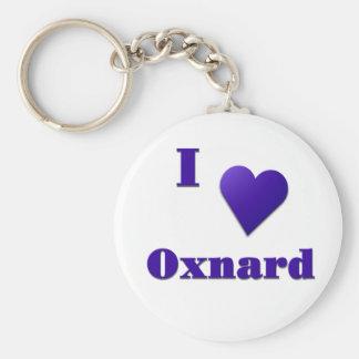 Oxnard -- Midnight Blue Basic Round Button Keychain