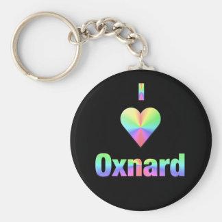 Oxnard  -- Pastels Basic Round Button Keychain