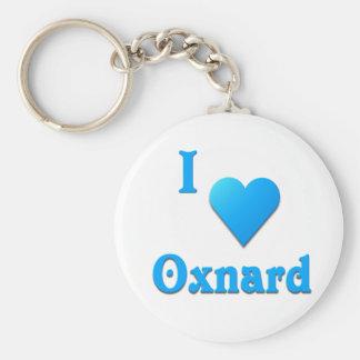 Oxnard -- Sky Blue Basic Round Button Keychain