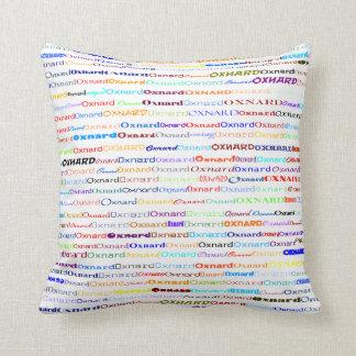 Oxnard Text Design II Throw Pillow