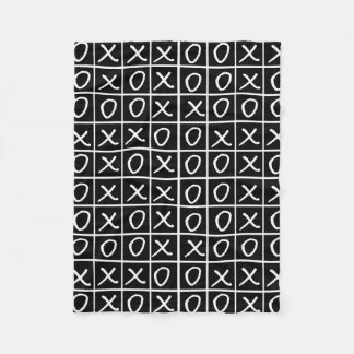 Oxo Game - Noughts and Crosses Fleece Blanket