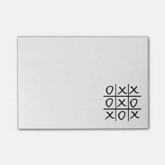 Oxo Game - Noughts and Crosses Post-it Notes